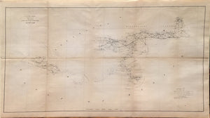 ALEXANDER DALLAS BACHE, U.S. Coast Survey Sketch H Showing the Progress of the Survey in Section No. VIII from 1846 to 1861 (Map of Louisiana and the S.E. United States), c. 1861.