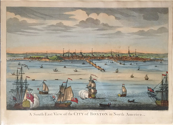 JOHN CARWITHAM, after WILLIAM BURGIS, A South-East View of the City of Boston in North America, 1819.