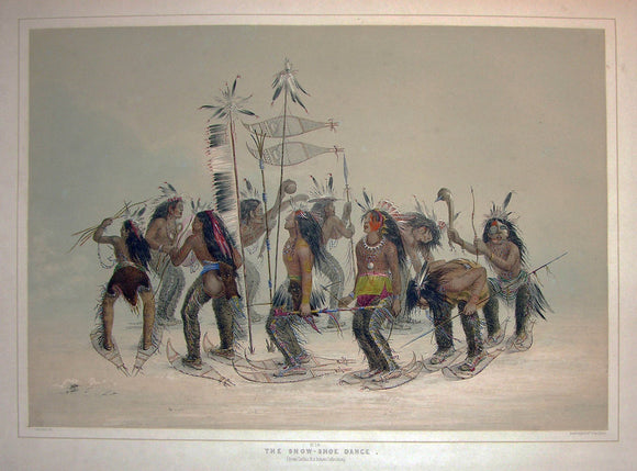 catlin-george-1796-1872-plate-no-14-snow-shoe-dance