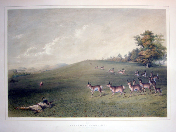 catlin-george-1796-1872-plate-no-20-antelope-shooting