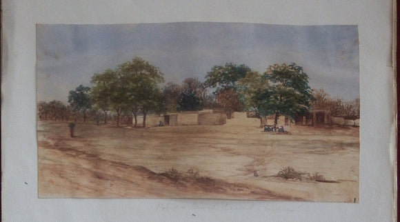 pakistan-fine-original-watercolour-of-rawal-pindee-ie-rawalpindi-ca-1880