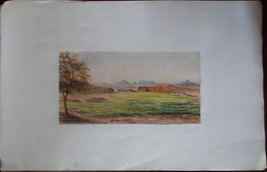 pakistan-fine-original-watercolour-of-the-dogs-teeth-rocks-the-murree-hills-the-punjab-ca-1880