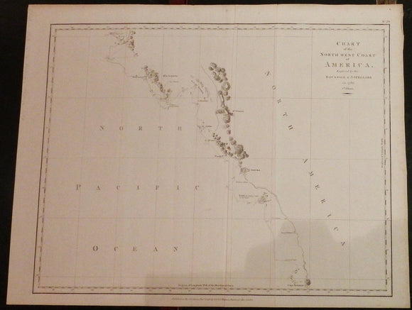LA PEROUSE, Jean François Galaup de (1741-1788). Chart of the North West Coast of America. London: G.G. & J. Robinson, Nov.r 1798.