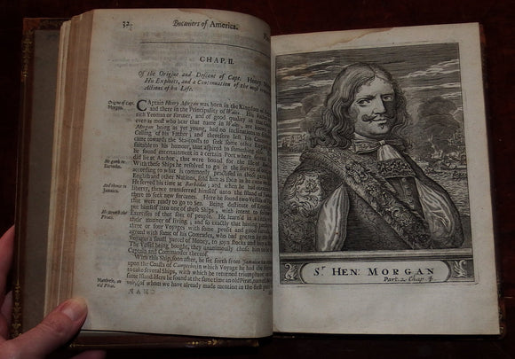 EXQUEMELIN, Alexandre Olivier (1645-1707). - [RINGROSE, Basil (1653?-1686)]. Bucaniers of America - [Bucaniers of America. The Second Volume.] London: William Crooke, 1684 - [1685].