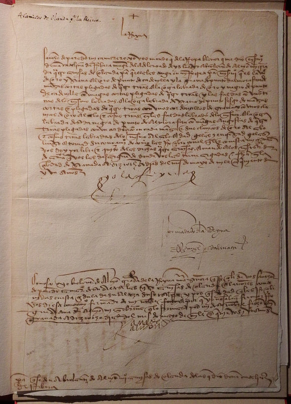 ISABELLA I of CASTILE (1451-1504). Document signed