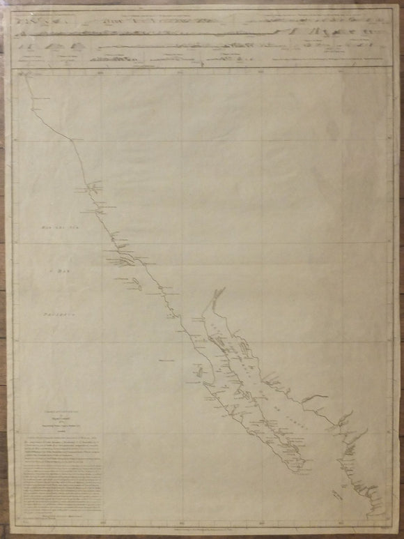 COSTANSÓ, Miguel (1741-1814). Chart of California. London: A. Dalrymple, June 21st, 1790
