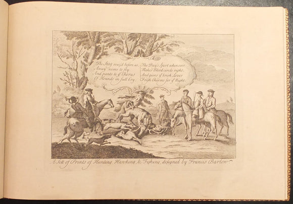 BARLOW, Francis (died 1704). A Sett of Prints of Hunting, Hawking, & Fishing. [London: after 1671].
