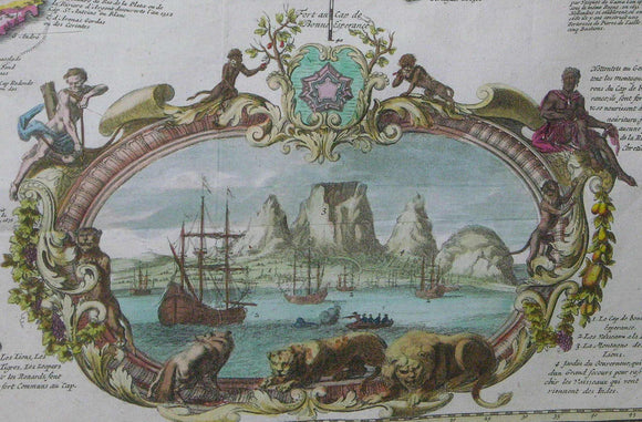 de LETH, Hendrick (1703-1766) and Andries de LETH. Carte Nouvelle de la Mer du Sud... Amsterdam: for Hendrick and Andries de Leth by Visscher, [1740].