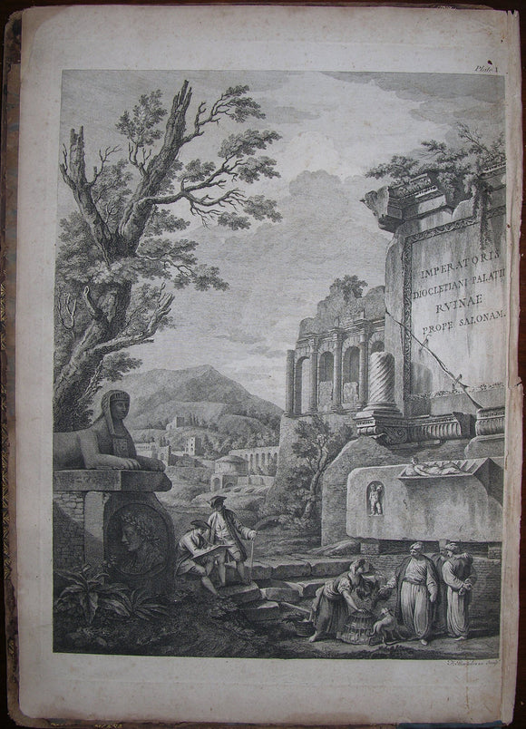 ADAM, Robert (1728–1792). Ruins of the Palace of the Emperor Diocletian at Spalatro in Dalmatia. [London:] Printed for the author, 1764.