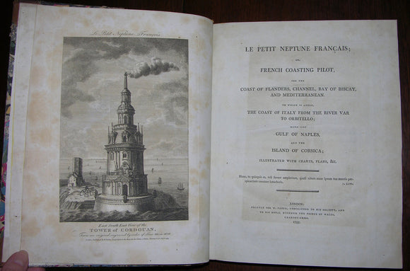 FADEN, William (1749-1836). Le Petit Neptune Francais: or, French Coasting Pilot... London: for W. Faden, 1793.