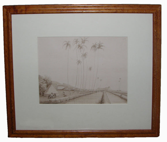 dale-lt-john-b-1814-1848-original-watercolour-drawing-of-the-view-along-waikiki-beach-at-honolulu-towards-diamond-head-oahu-hawaiin-islands-november-1845