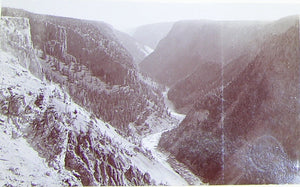 "HAYNES, Frank Jay (1853-1921) - YELLOWSTONE NATIONAL PARK. Fine Photograph of ""Down the Canyon from Inspiration Point"". [1887]."
