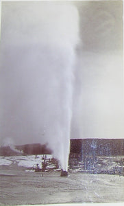 "HAYNES, Frank Jay (1853-1921) - YELLOWSTONE NATIONAL PARK. Fine Photograph of ""Bee Hive Geyser"". [1887]."