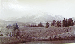 "HAYNES, Frank Jay (1853-1921) - YELLOWSTONE NATIONAL PARK. Fine Photograph of ""Electric Peak"". [1887]."