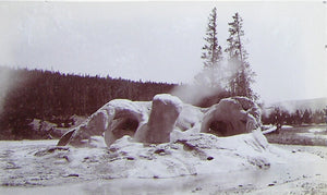 "HAYNES, Frank Jay (1853-1921) - YELLOWSTONE NATIONAL PARK. Fine Photograph of ""Formation of Grotto Geyser"". [1887]."