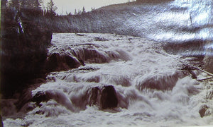 "HAYNES, Frank Jay (1853-1921) - YELLOWSTONE NATIONAL PARK. Fine Photograph of ""Cascades of the Firehole"". [1887]."