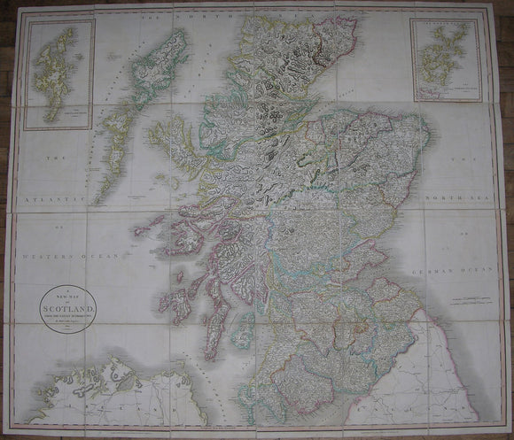 CARY, John (1755-1835). A New Map of Scotland. London: J. Cary, 1801