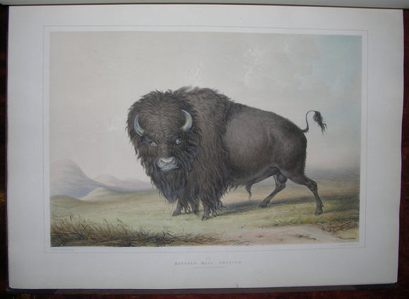 CATLIN, George (1796-1872). Catlin's North American Indian Portfolio. Hunting Scenes and Amusements of the Rocky Mountains and Prairies of America. London: George Catlin, Egyptian Hall, 1844.