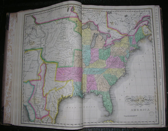 CAREY, Henry Charles (1793-1879) and LEA, Isaac (1792-1886).  A Complete Historical, Chronological, and Geographical American Atlas. Philadelphia: H.C. Carey & I. Lea - Chestnut Street, 1827.