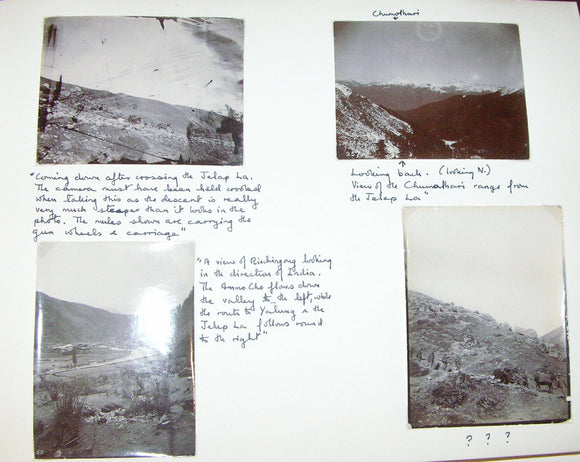 AN IMPORTANT AND APPARENTLY UNPUBLISHED SERIES OF GELATIN SILVER PHOTOGRAPHS OF LHASA AND TIBET TAKEN DURING THE CELEBRATED YOUNGHUSBAND MISSION OF 1904