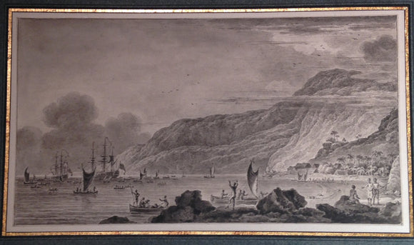 ozanne-nicolas-marie-1728-1811-after-webber-john-1750-1793-view-of-karakakooa-bay-in-owhyhee-where-captn-cook-was-killed-ca-1785