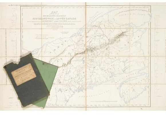 GREAT BRITAIN. FOREIGN OFFICE. North American Boundary. Map of that  Portion of Her Majesty's Colonies of New Brunswick and Lower Canada. London: [Foreign Office, 1840].