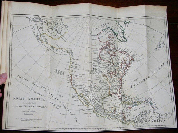 HOLSTER ATLAS. The American Military Pocket Atlas; being an Approved   Collection of Correct Maps, both General and, of the British Colonies. London: R. Sayer and J. Bennet, [1776].