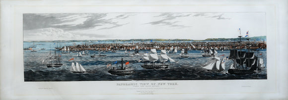 ROBERT HAVELL, JR. (1793-1878): Panoramic View of New York From the East River.