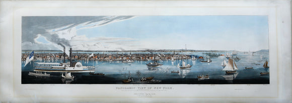 ROBERT HAVELL, JR. (1793-1878): Panoramic View of New York Taken From the North River.