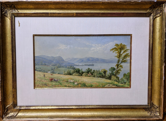 HILL, John William (1812-1879). From Fishkill [View of the Hudson River, from Fishkill}.