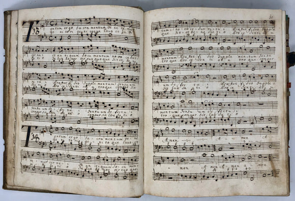 MANUSCRIPT CHOIRBOOK.  [Germany: ca. Late 17th-early 18th Century].