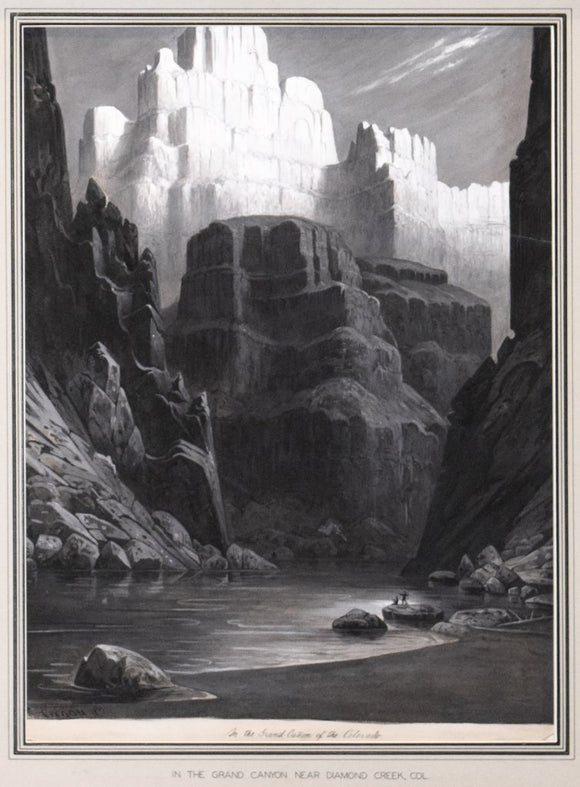 Rudolf Cronau (German, 1855-1939), In the Grand Canyon Near Diamond Creek, Col [Now Northern Arizona]