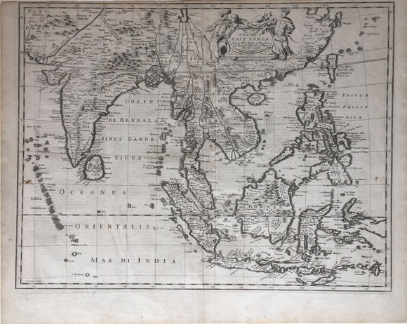 JOHN SPEED, A New Map of East India, c. 1676.