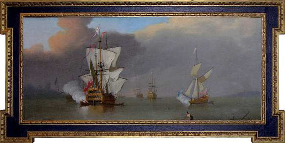 Thomas Leemans (fl. ca. 1720-1740), attributed to The Morning Gun Oil on canvas