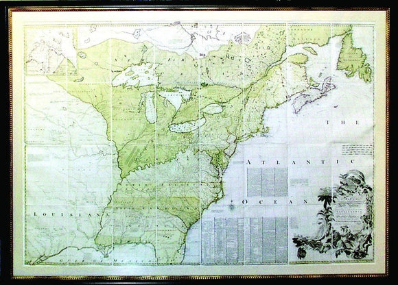 MITCHELL, John (1711-1768). A Map of the British and French Dominions in North America. London: Printed for Jefferys and Faden, [ca. 1773].