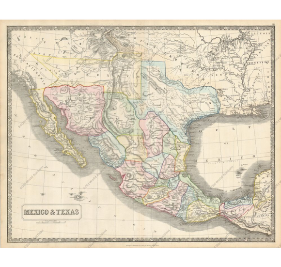 George Philip  Mexico and Texas  Liverpool, 1851