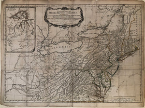 Pownall, Thomas (1722-1805). After Lewis Evans (c. 1700-1756). A General Map of the Middle British Colonies...