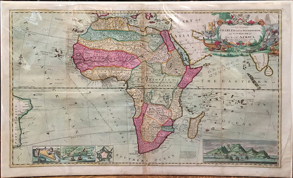HERMAN MOLL, To the Right Honourable Charles Earl of Peterborow and Monmouth, &c. This Map of Africa, c. 1715.