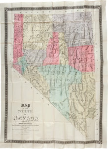 PARKER, John W. Map of the State of Nevada compiled by John W. Parker, Chief Draughtsman of the U.S. Sur. General's Office. Reno, Nevada: 1886.