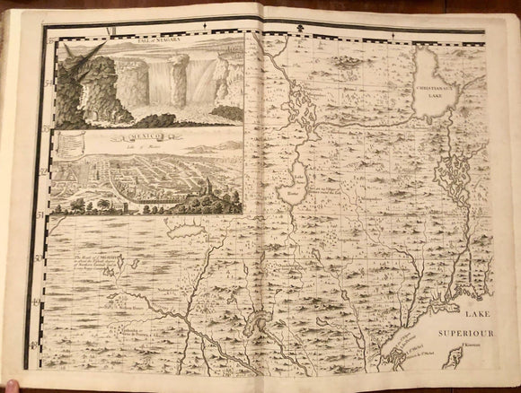 POPPLE, Henry (d. 1743). Map of the British Empire in America with the French and Spanish Settlements adjacent Thereto. London: Henry Popple, 1733.
