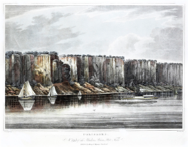 HILL, John (1770-1850) after WALL, William Guy. (1792-1864). Palisades, No.19 of the Hudson River Portfolio.