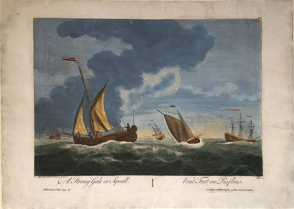 PIERRE-CHARLES CANOT, after PETER MONAMY, A Strong Gale or Squall, 1794.