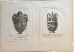 GIOVANNI BATTISTA PIRANESI, (Funerary Urn and decorative vase) Plate 69, c. 1768-1778.