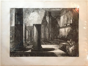 GIOVANNI BATTISTA PIRANESI, Vue interieure du Pronaeo, et de la cellule du Temple d'Isis , 1807.