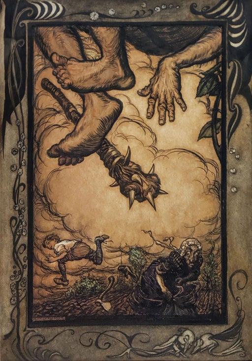 ARTHUR RACKHAM (1867-1939) Original illustrations for Jack and the Beanstalk.