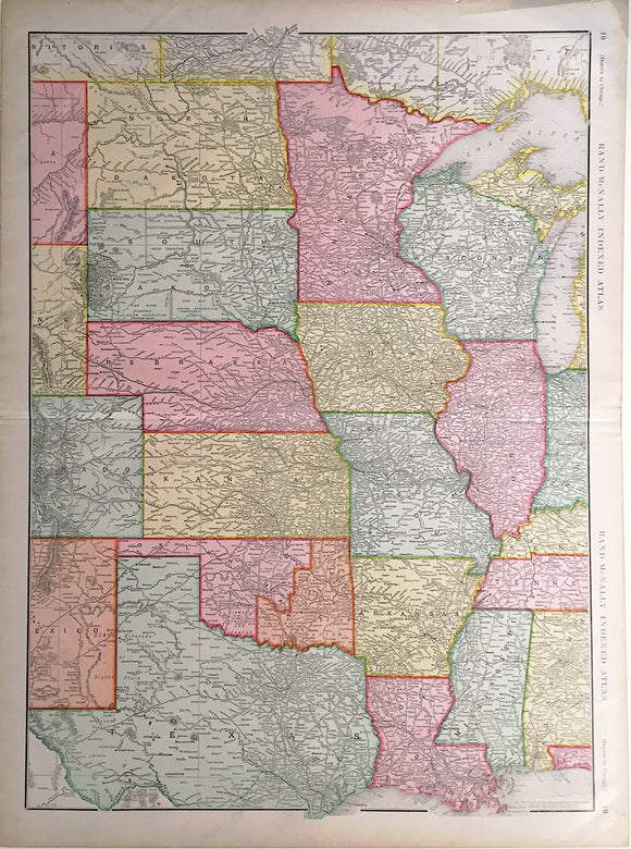 RAND MCNALLY, Denver to Chicago, 1902.