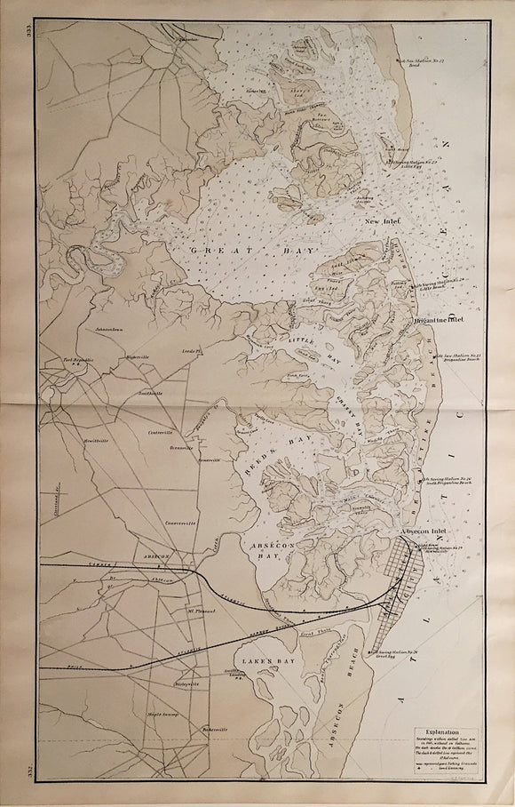 T.F. ROSE, (Map of Atlantic City, NJ), 1878.