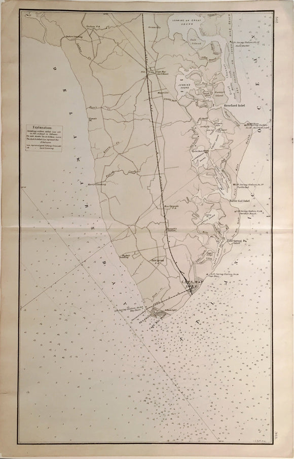 T.F. ROSE, (Map of Stone Harbor, NJ), 1878.