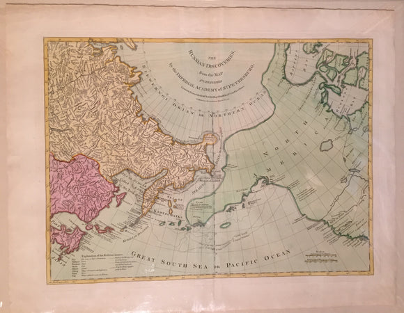 Robert Sayer, The Russian Discoveries from the Map Published by the Imperial Academy of St. Petersburg, 1775, London