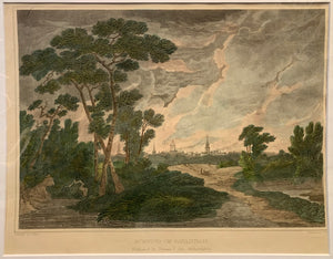 SHAW, Joshua (1776-1860)  Burning of Savannah  From: 'The Landscape Album. Picturesque Views of American Scenery'  Published by Philadelphia: Thomas T. Ash, ca. 1835, 1835
